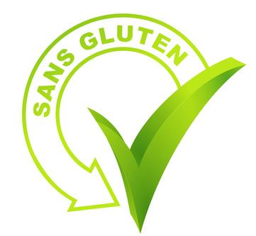 sans gluten sur symbole valid vert